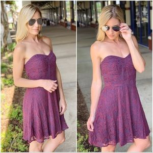 ✨RESTOCKED✨Plum lace dress